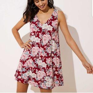 LOFT Floral Swing Dress